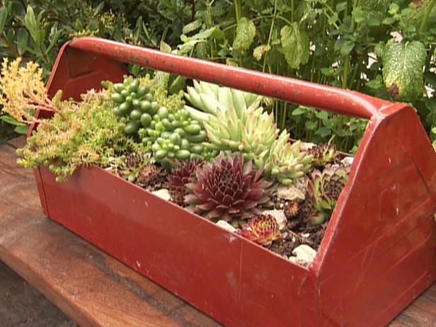 Repurposed garden containers and tons of great ideas for for Container garden ideas