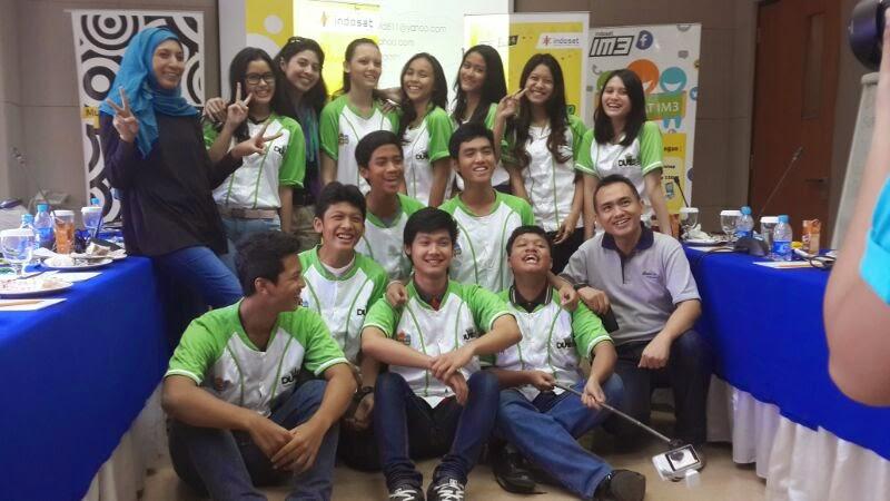 Bersama 12 finalis Duta IM3 2014 untuk area Jakarta, yang terpilih dari seleksi ketat