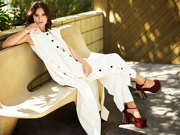 Emily Ratajkowski wears 70s designs for The Editorialist Pre-Fall 2015
