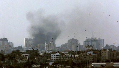 Smoke rises from Gaza