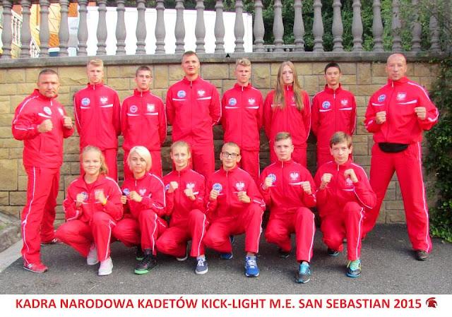 Mistrzostwa Europy 2015, Przemysław Kalisz, Kadet, Junior, WAKO, PZKB, San Sebastian, Hiszpania, medal