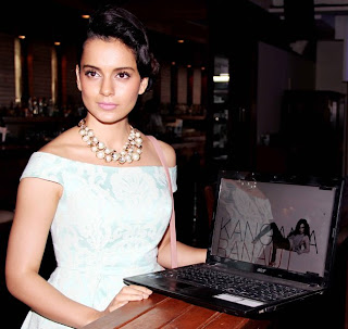 Kangana Ranaut hot during her website launch
