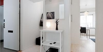recibidor apartamento pequeño femenino