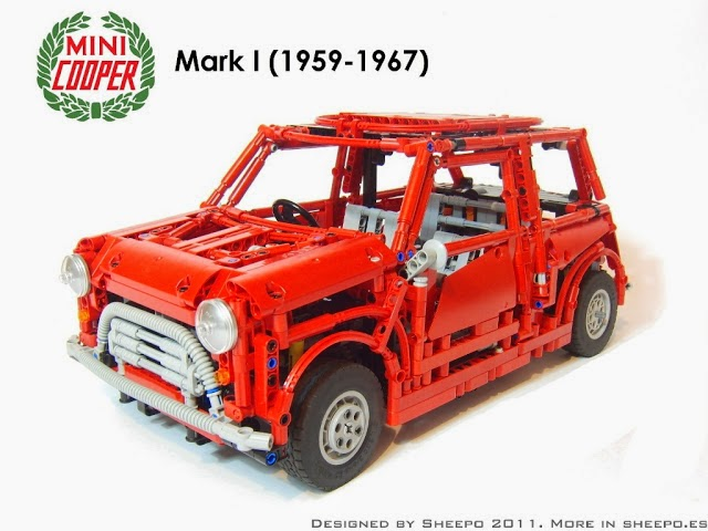 Lego Mini Cooper by Sheepo