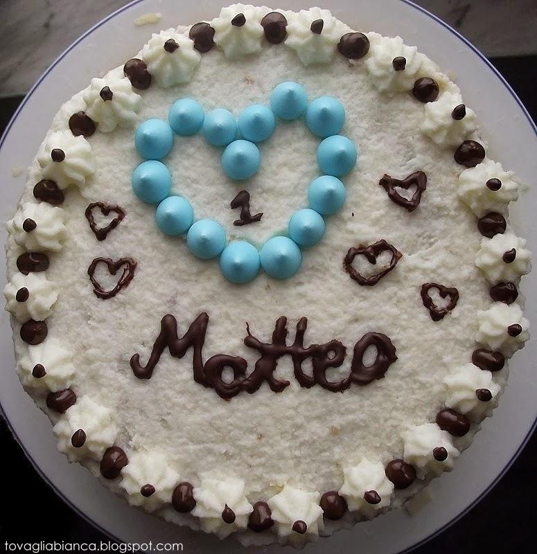 torta per primo compleanno del bimbo