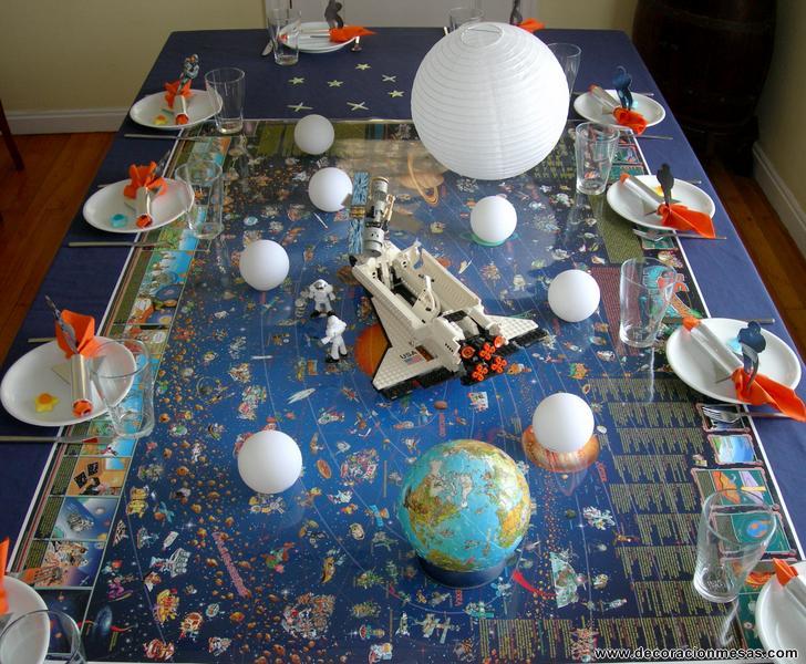 Decoracion de mesas mesa cumplea os de astronautas for Decoracion de mesa de cumpleanos