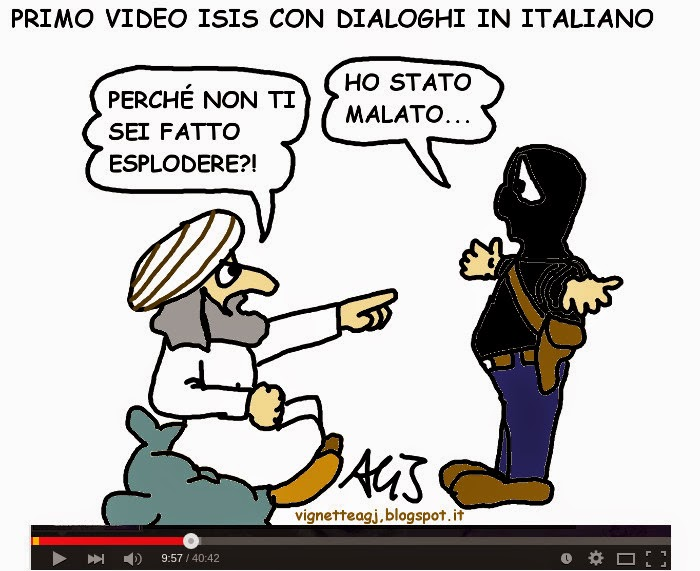 Isis, foreign fighters, satira , vignetta