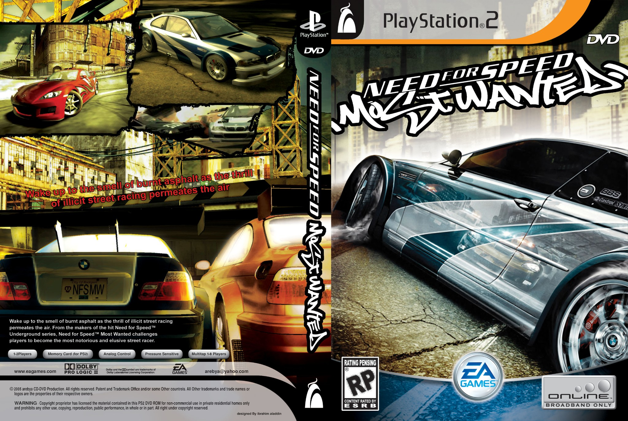 Need for Speed: Most Wanted - Playstation 2 - Ultra Capas Ps2 Need For Speed