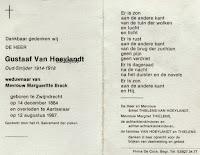 Oud-strijder uit de Eerste Wereldoorlog, Gustaaf Van Hoeylandt 1884-1987.