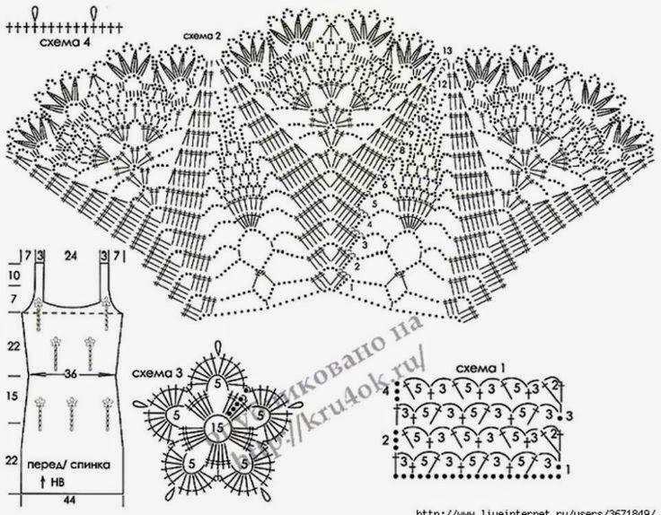 Вязание крючком для детей платья сарафаны схемы