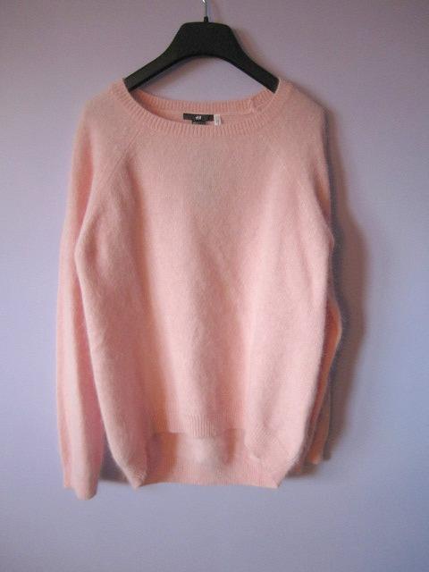 H&m Pink Angora Sweater Lana