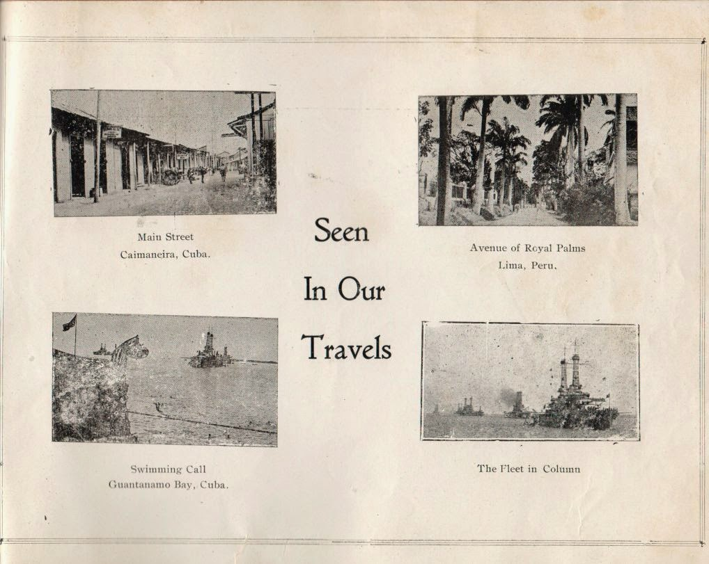 Page from USS Nevada Fifth Anniversary booklet March 1921