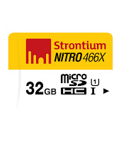 Buy Strontium 32GB MicroSDHC Memory Card (Class 10) at Rs.505