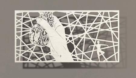 Création avec des coupures de papiers