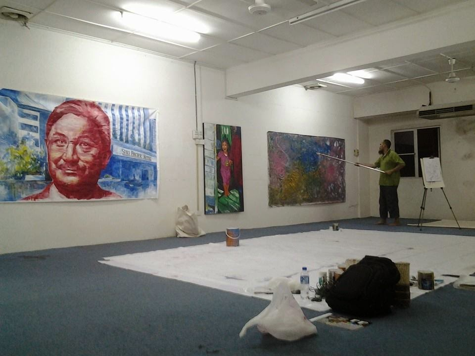 15 Mei 2014. Masuk Galeri baru PERUPA di Setapak