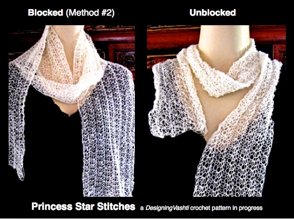 Crochet Blocking : Vashtis Crochet Pattern Companion: Blocking Crochet: Five Methods