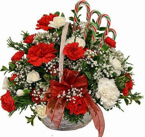 Christmas Flowers Basket Delivery in Switzerland