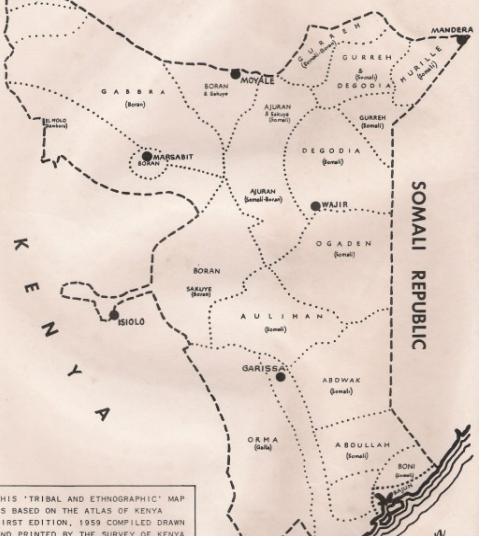 1959 MANDERA MAP