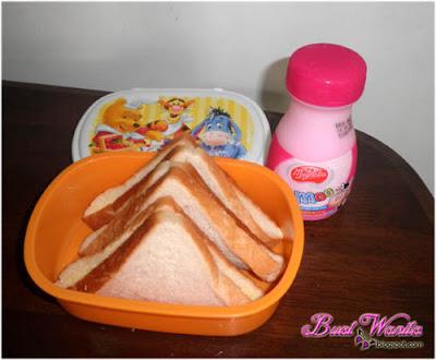 menu bekal ke sekolah roti susu