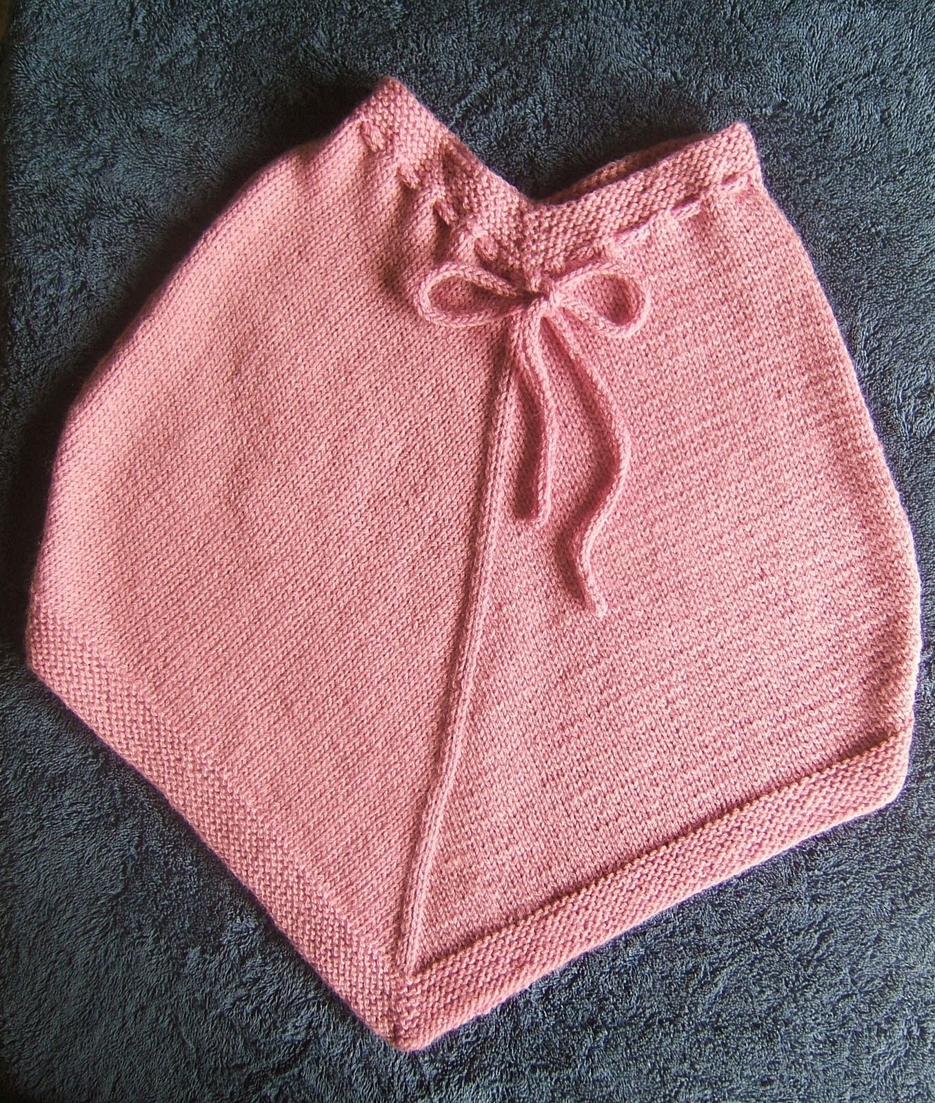 Knitting Pattern For Childs Poncho : aussie knitting threads: Childs Poncho
