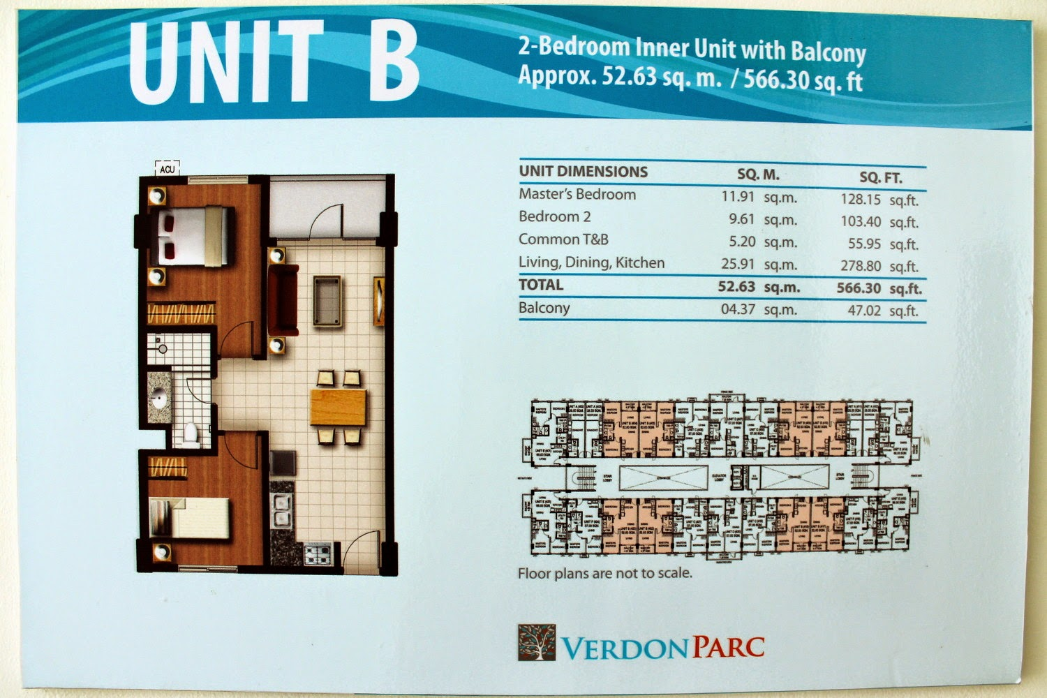 Verdon Parc Unit B (2-Bedroom Inner with Balcony)