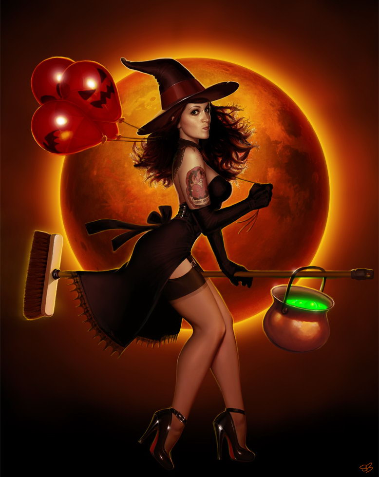 foto de Halloween Party Pin Up Poster by PapaNinja Pin Up and