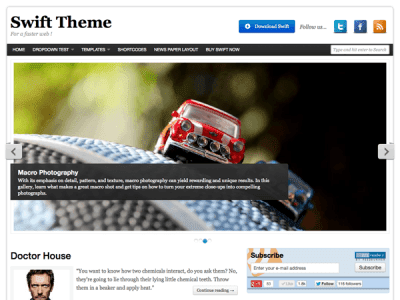 Swift Basic WordPress Theme