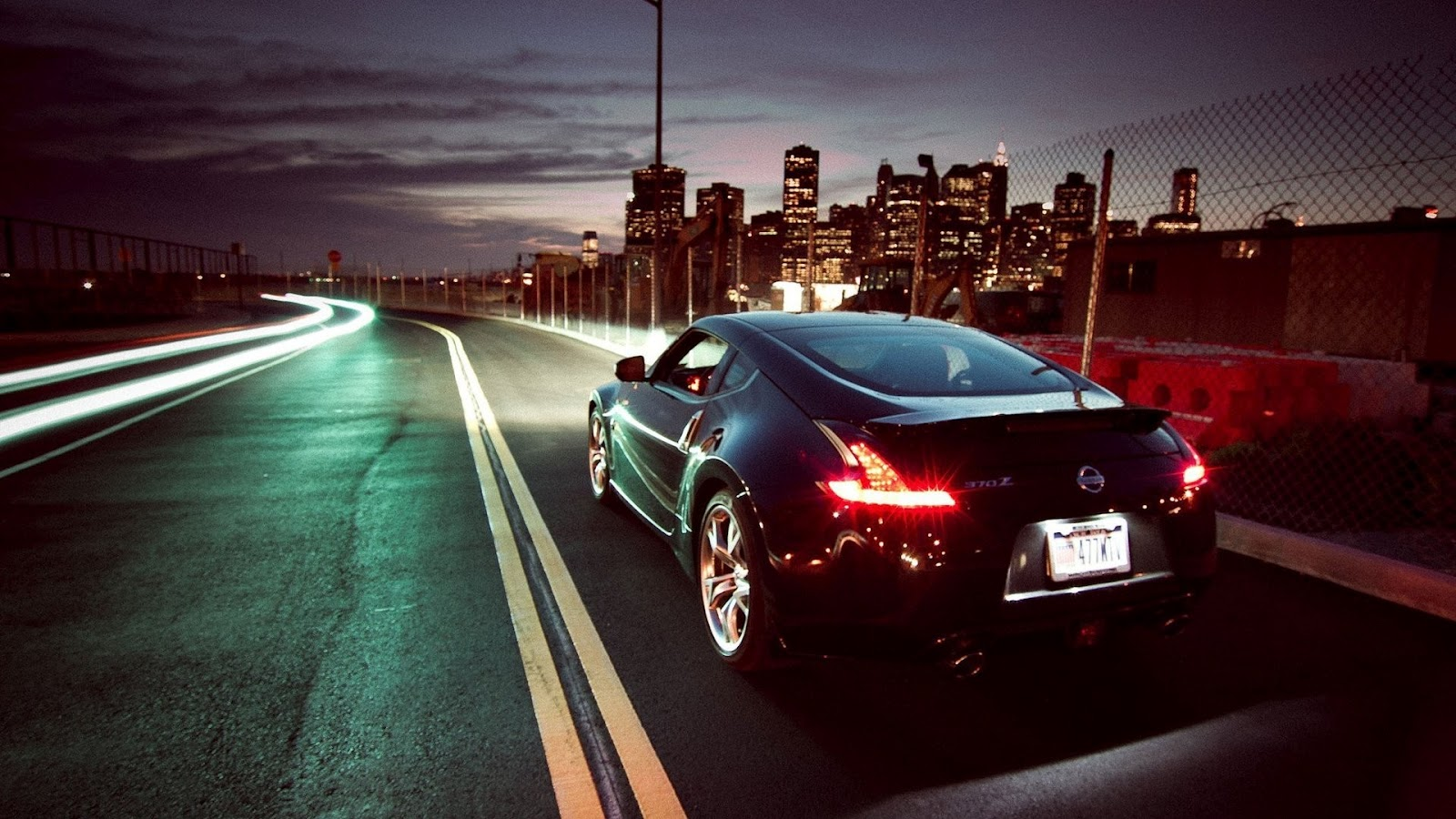 Great Wallpaper Night Car - Nissan_370Z_Skyscrapers_Night_Lights_Photography_HD_Wallpaper  Best Photo Reference.jpg