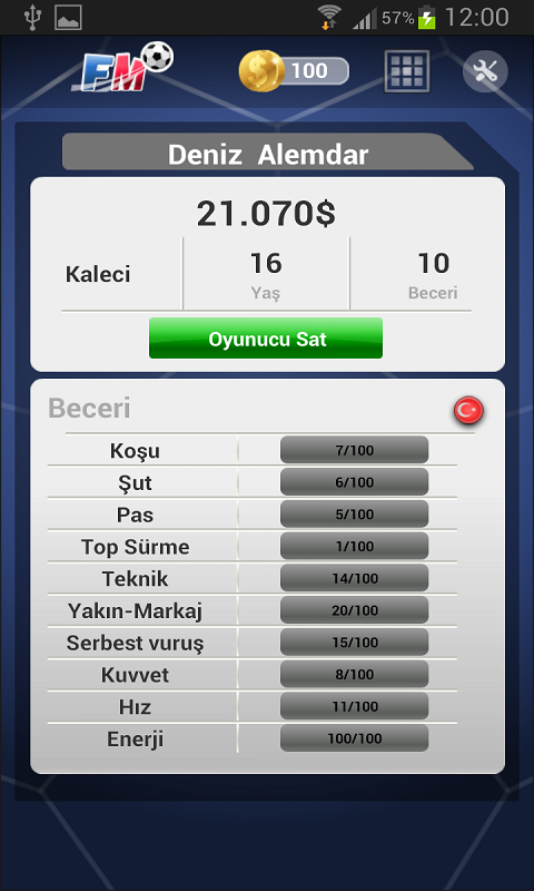 Futbol Menajerlik Oyunu 2014 Android Apk resimi 4