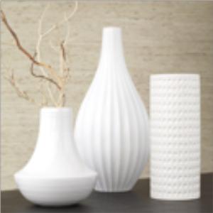 White vases - Floreros modernos ...
