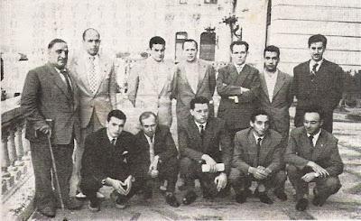 Ajedrecistas participantes en el Torneo Internacional de Ajedrez Santander 1958