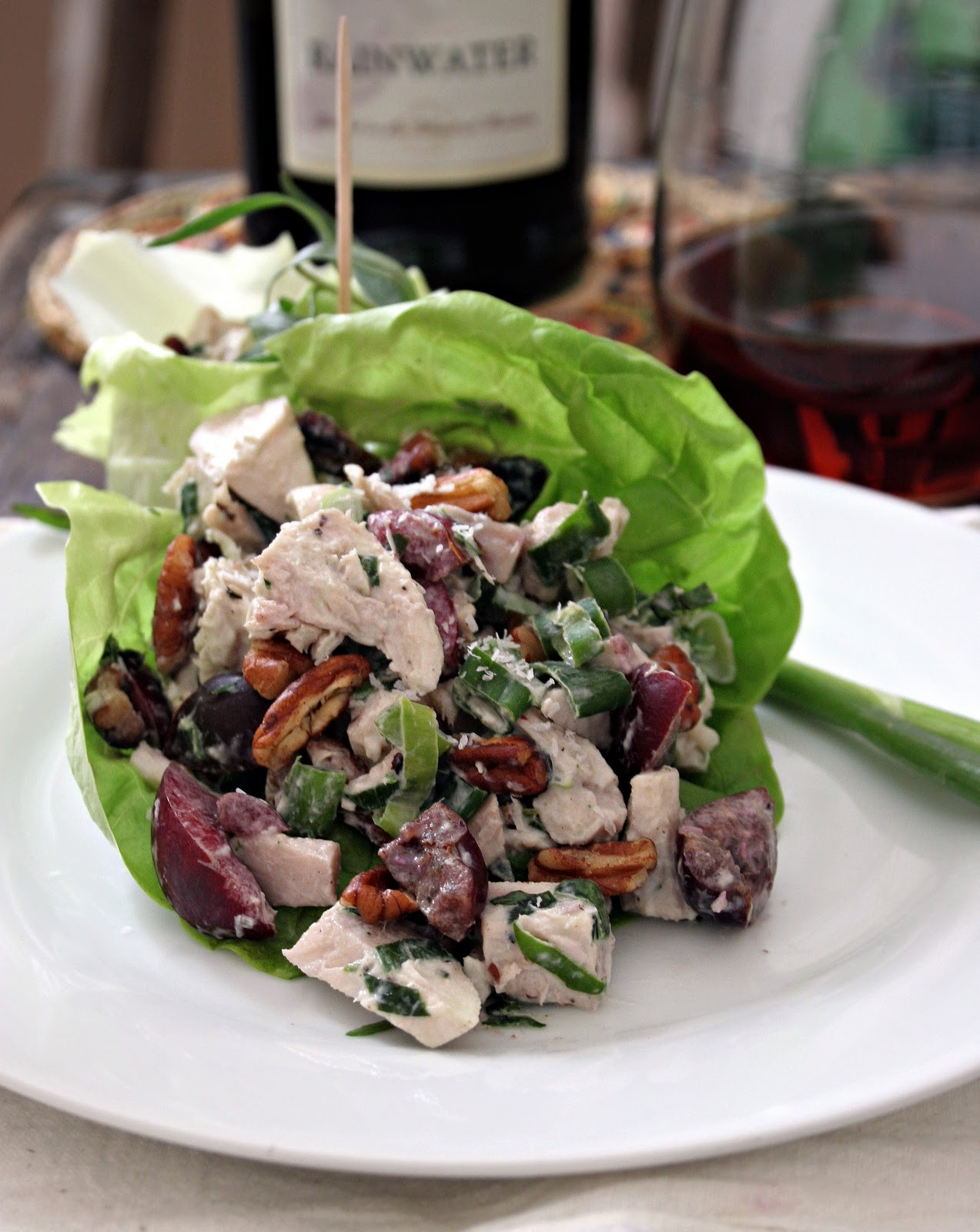 Cherry, Pecan & Tarragon Chicken Salad (No Mayo)