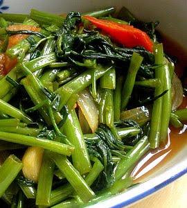 Resep Masakan Kangkung Tumis Pedas