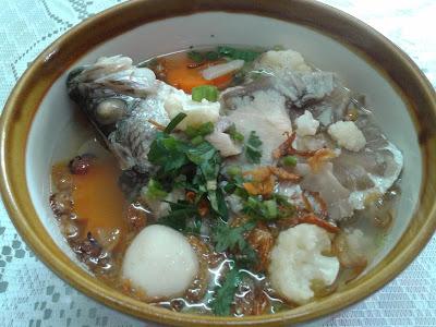 resepi sup ikan, sup ikan, bahan-bahan  sup ikan, sup ikan siakap, cara memasak sup siakap