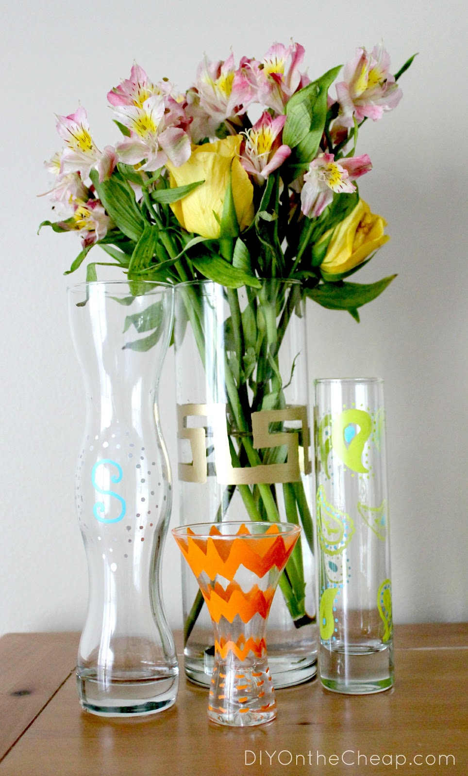 DIY Painted Vase Using Elmer s Painters Paint Markers Erin Spain