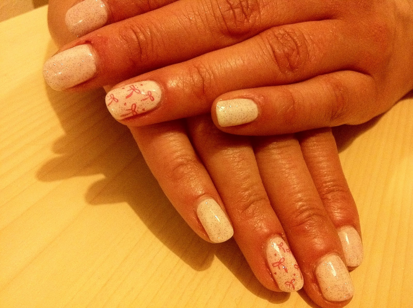 Brush up and Polish up!: CND Shellac Nail Art - Studio White and ...