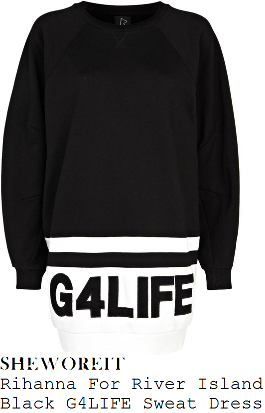 charlotte-crosby-black-and-white-rihanna-g-4-life-jumper-dress