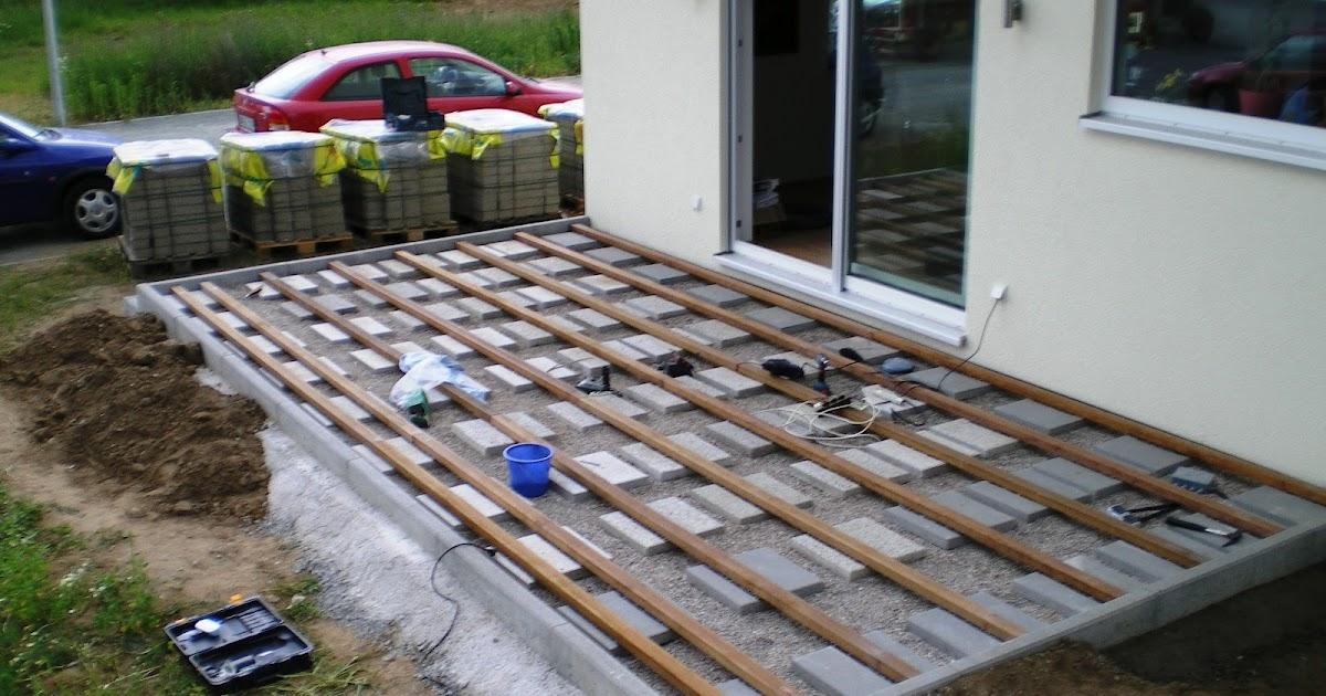 nadine und sven bauen ein haus terrasse ist fertig. Black Bedroom Furniture Sets. Home Design Ideas