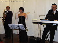 The three piece Jazz Band performing live at the event