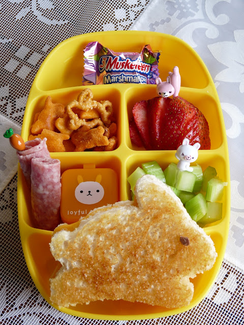 nibble tray easter bunny bento lunch