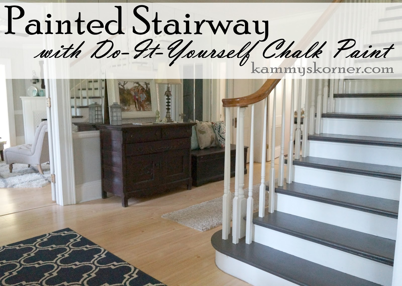 Painting The Stairs With DIY Chalk Paint