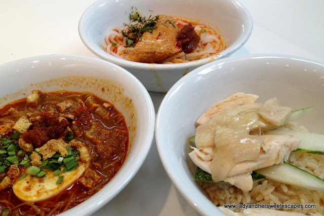Mee Siam, Lakse and Hainanese Rice in Changi Airport Singapore