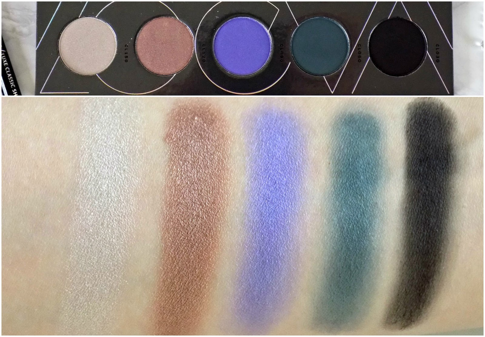 Zoeva Cool Spectrum eyeshadow palette swatches