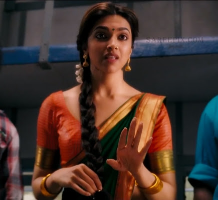 Deepika-padukone-traditional-half-saree-Chennai-express-movie
