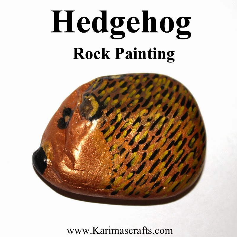 painted hedgehog rock