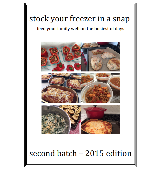 SECOND BATCH OF MAKE-AHEAD RECIPES (NEW - 2015 EDITION)