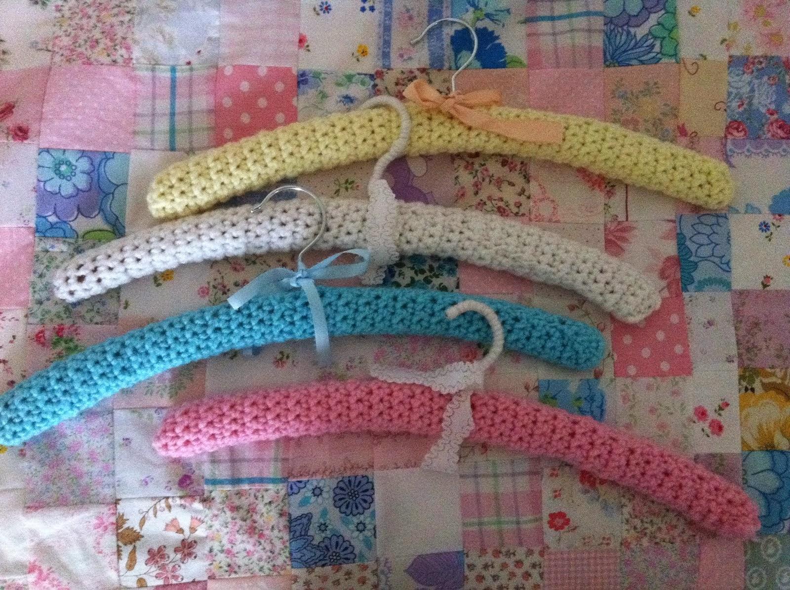 Pretty crochet hangers