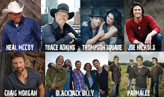 Neal McCoy, Trace Adkins, Thompson Square, Joe Nichols, Craign Morgan