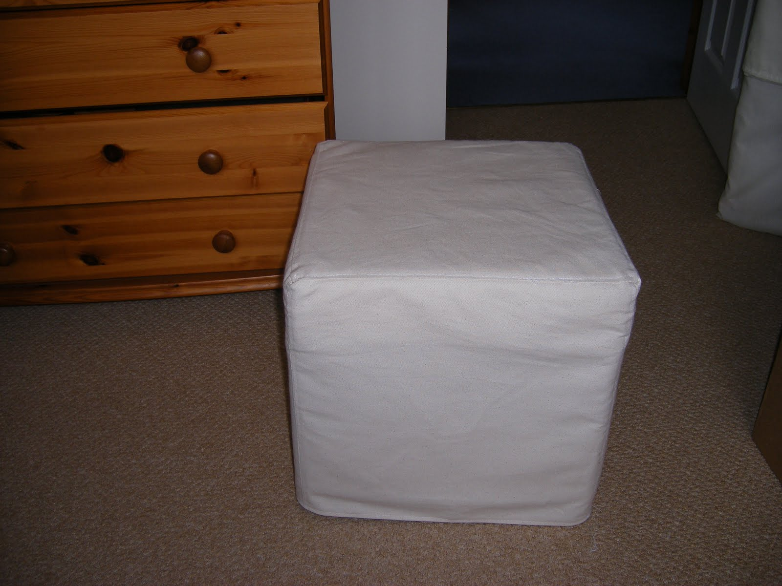 IKEA footstool £12.99 - bought because I couldn\u0027t afford the £200 one I really liked. & Sew Me: Footstool Slipcover and a Wee Tutorial islam-shia.org