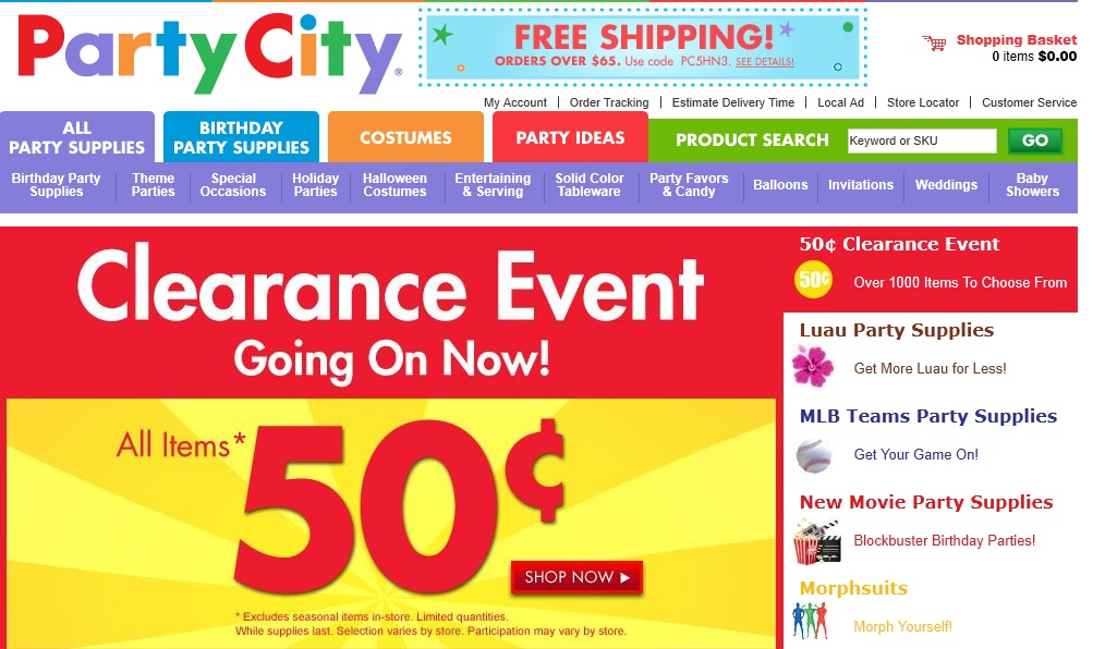 Party city online coupons august 2019
